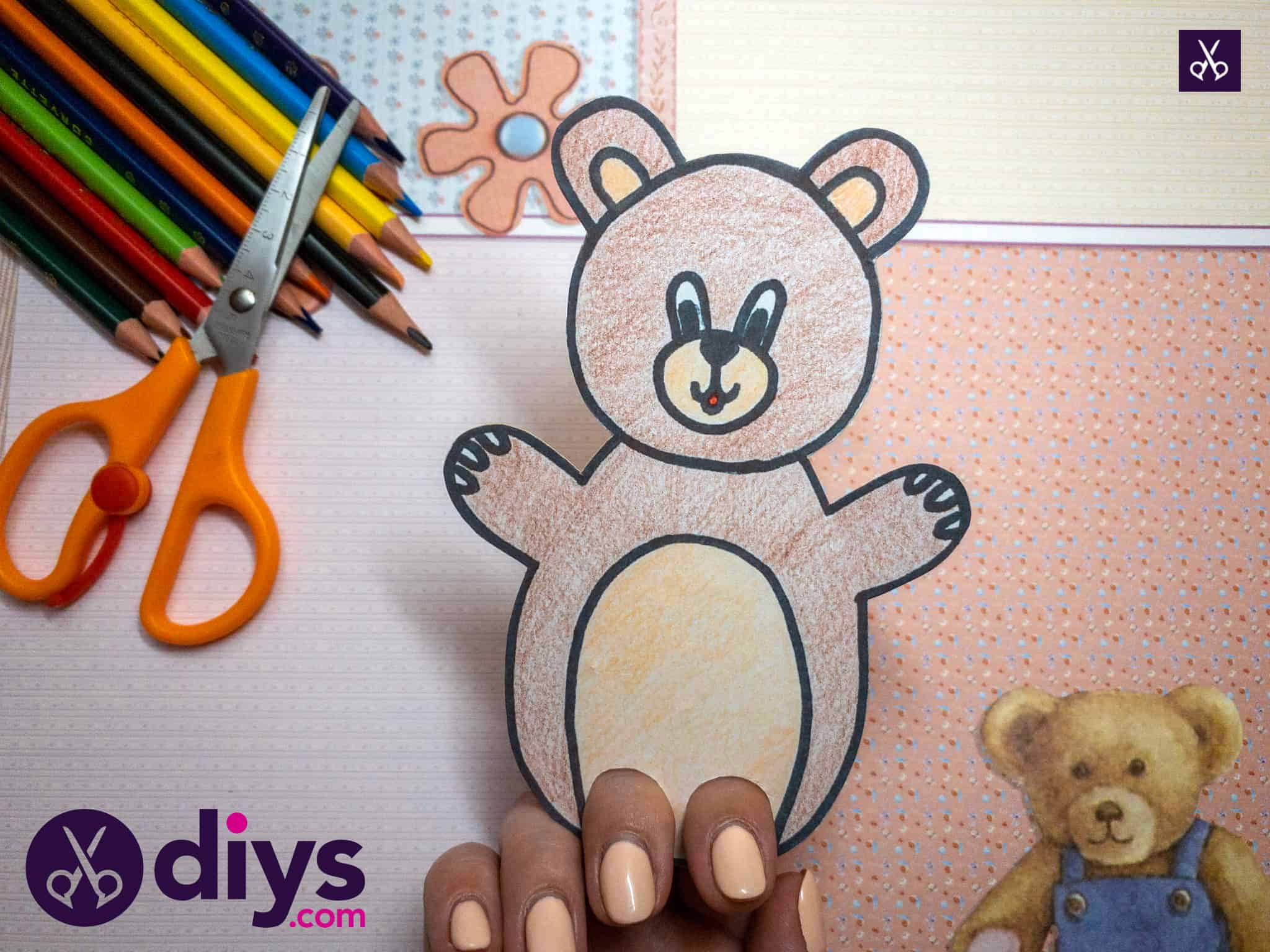 How to make an adorable bear finger puppet for kids