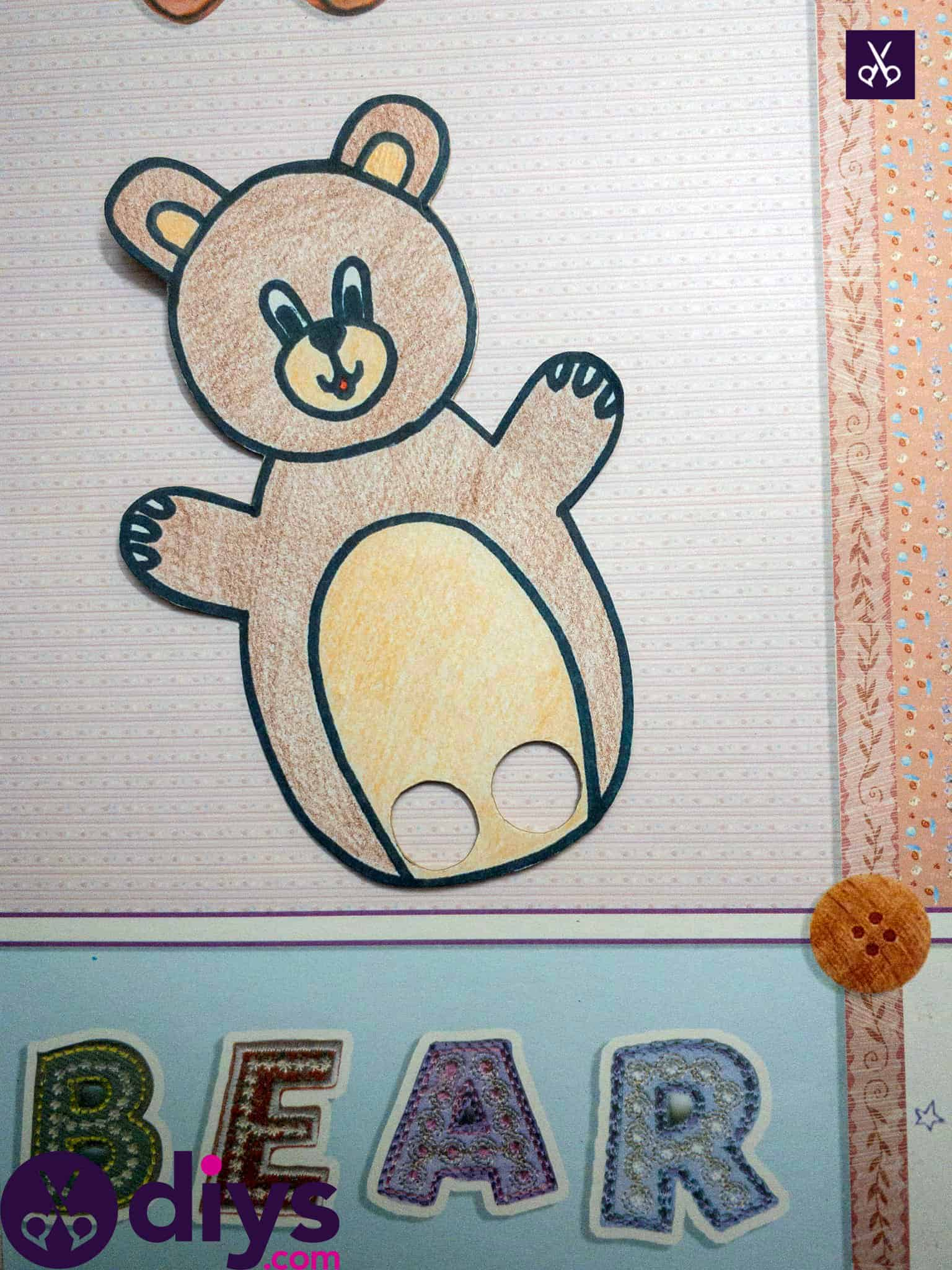 How to make an adorable bear finger puppet kids in mind