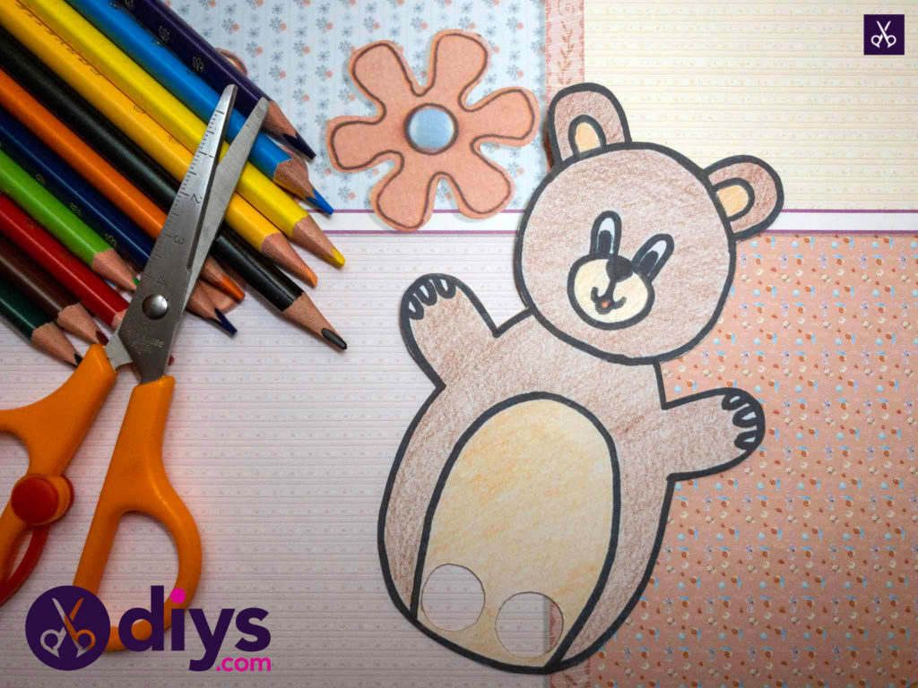 How to make an adorable bear finger puppet prepare