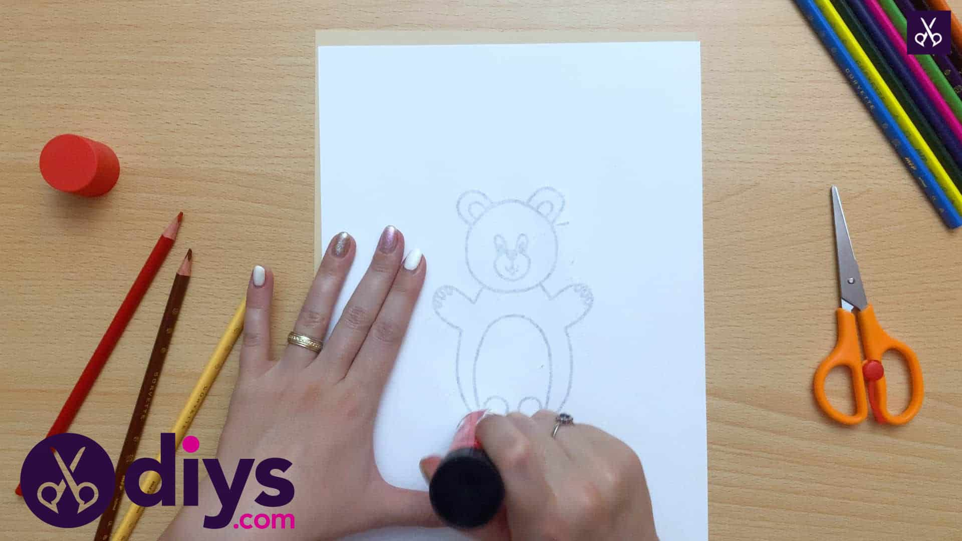 How to make an adorable bear finger puppet step 4