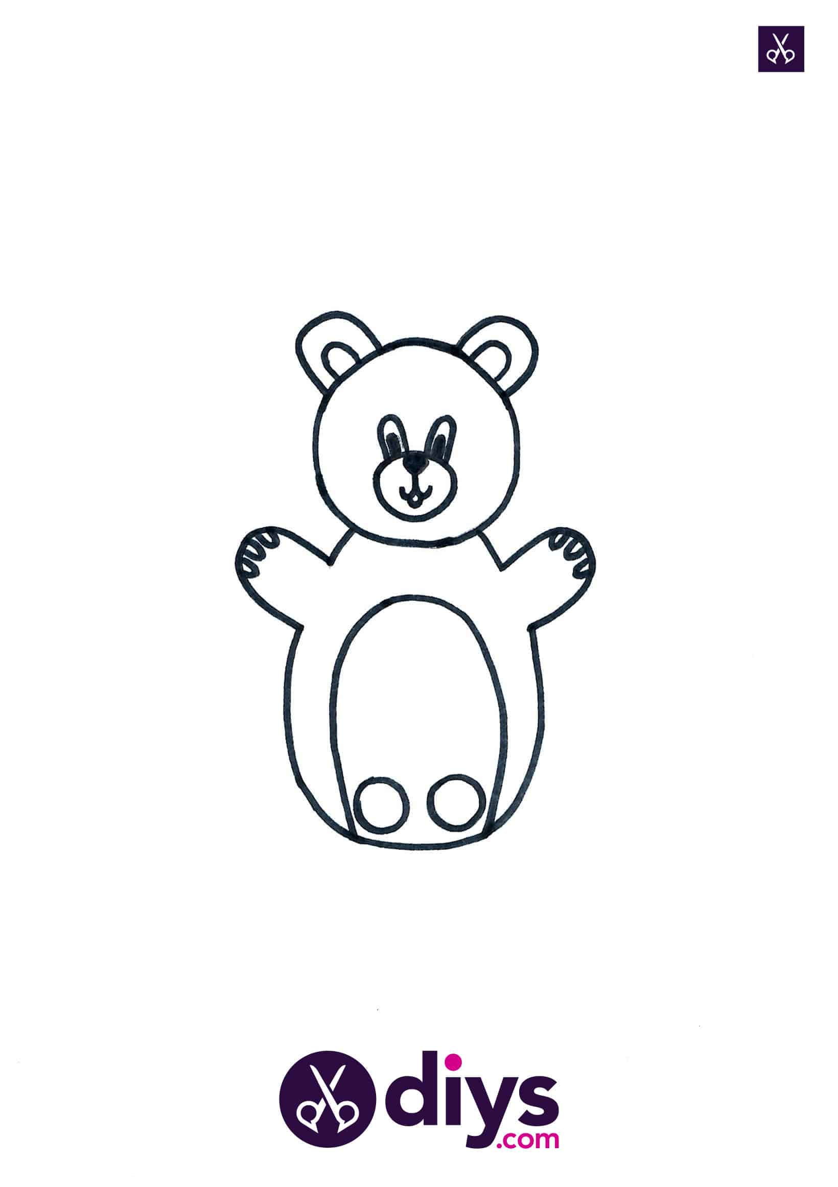 How to make an adorable bear finger puppet template