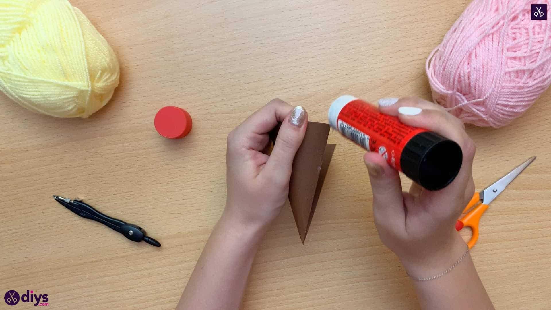 How to make an ice cream pom pom attach glue