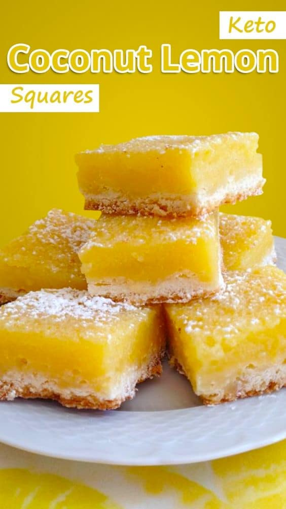 Keto coconut lemon squares recipe