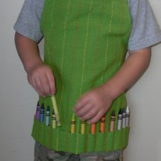 Kids art apron