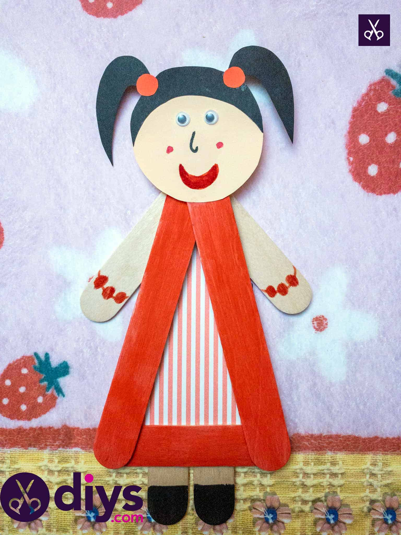 Kids insipired how to make a popsicle stick puppet
