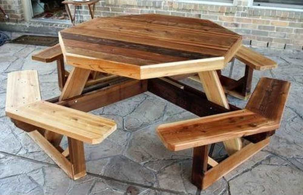 Large octagon picnic table
