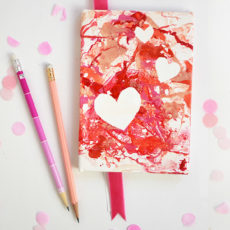 Marbled heart notebook