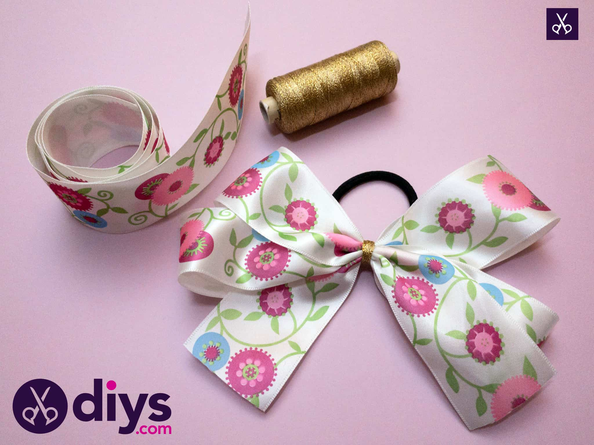 Materials how to make a ribbon double bow