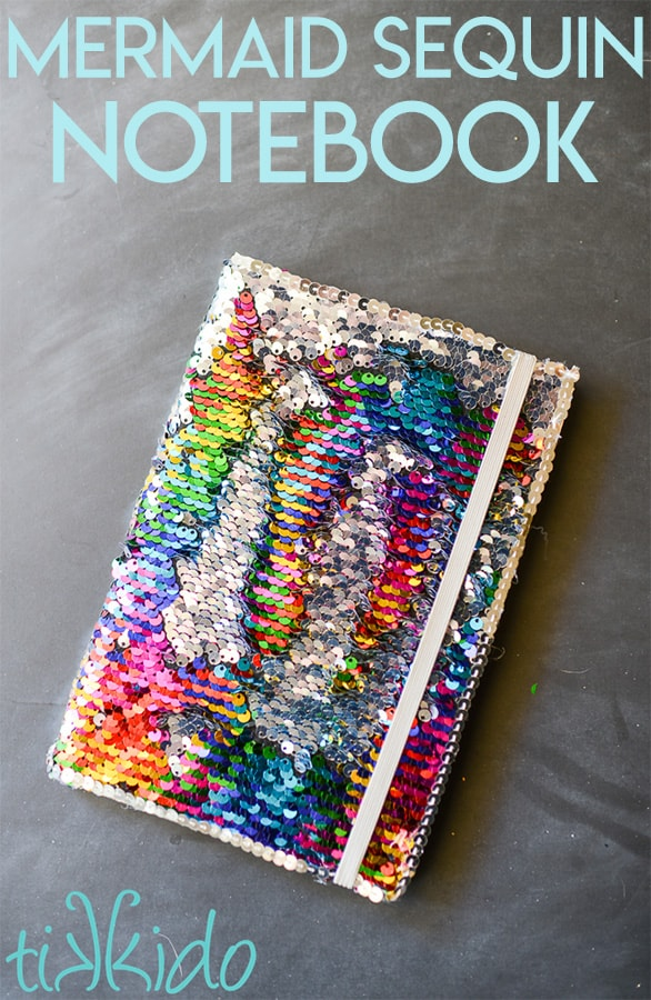 Mermaid sequin notebook