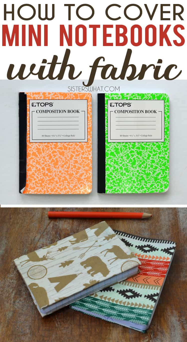 Mini fabric covered notebooks