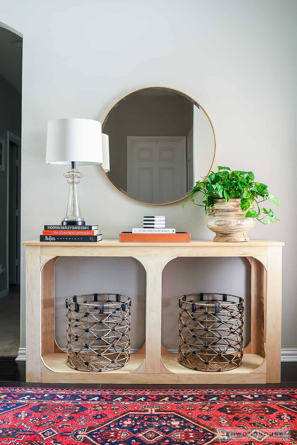Mod plywood console table