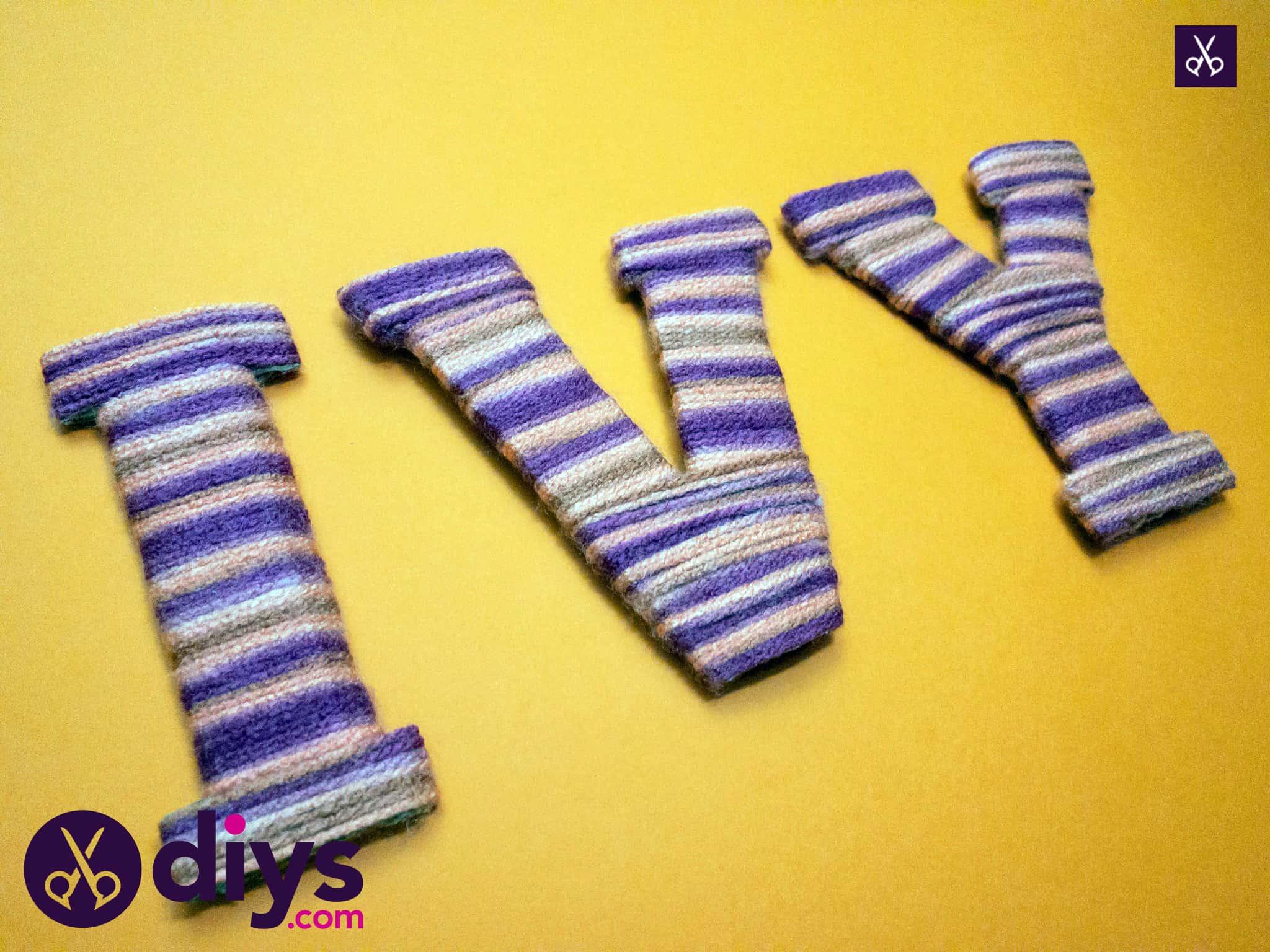 Modern diy yarn letters
