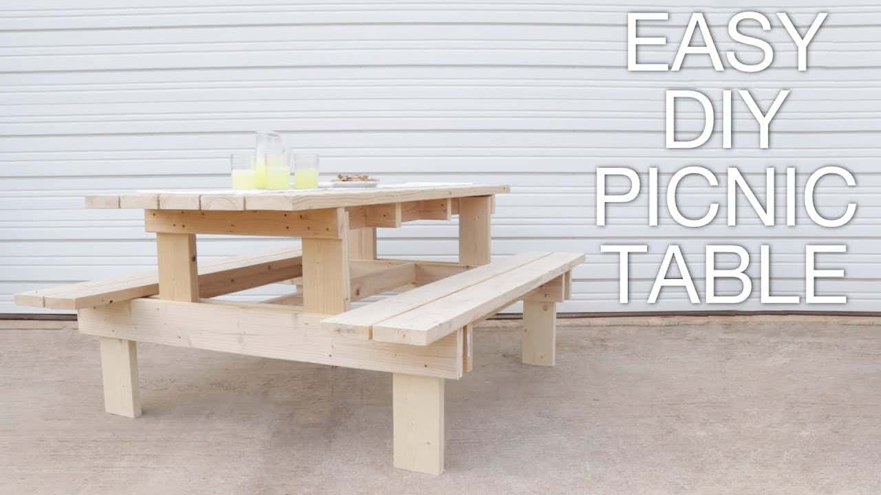 Modern wooden picnic table