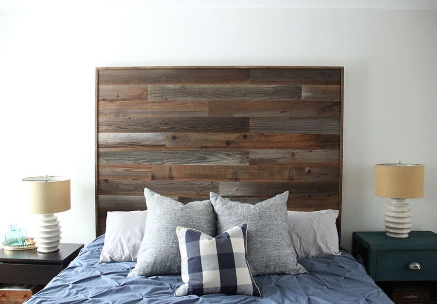 Multi toned pallet headboard