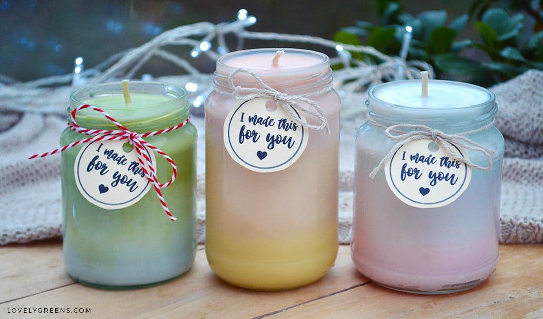 Naturally scented omre candles