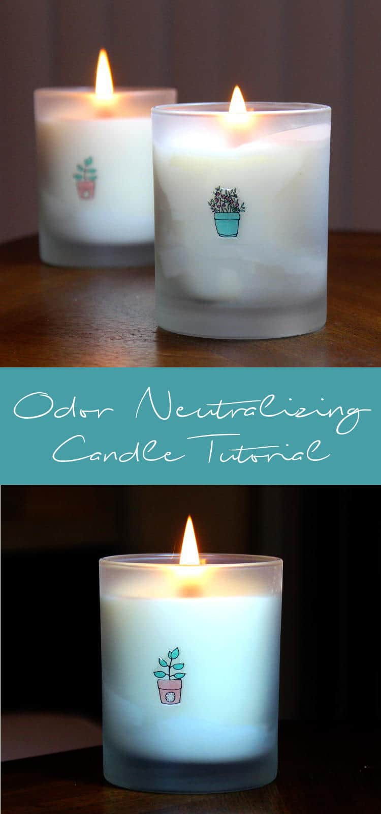Odour neutralizing candle