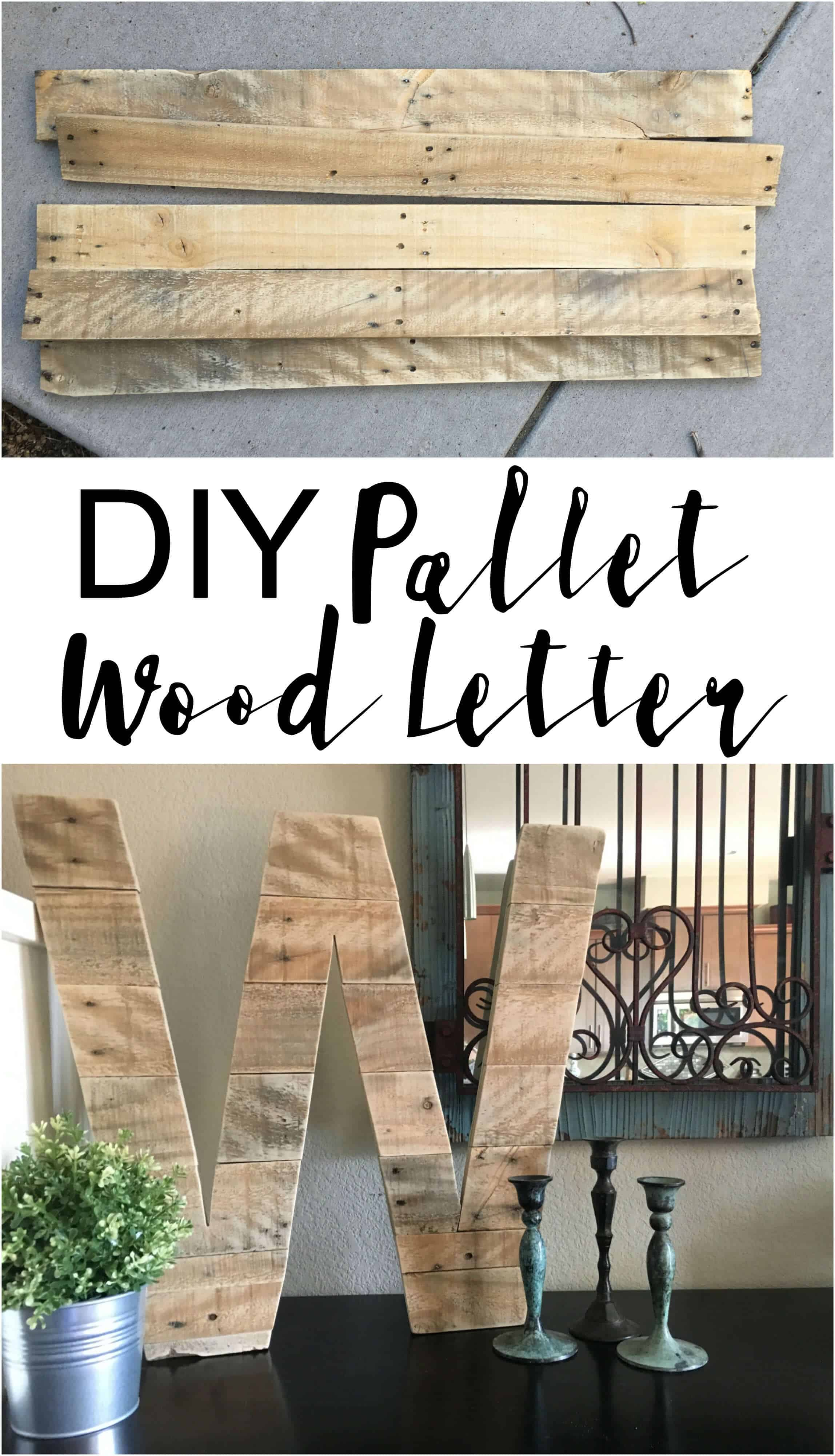Pallet wood monogram