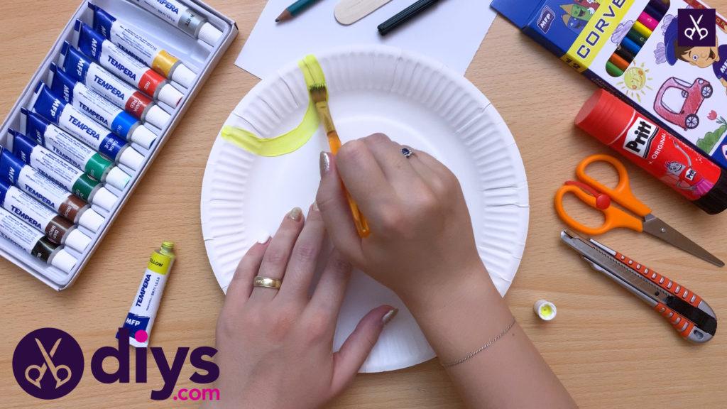 فرایند نقاشی عروسک عروسکی صفحه کاغذی
