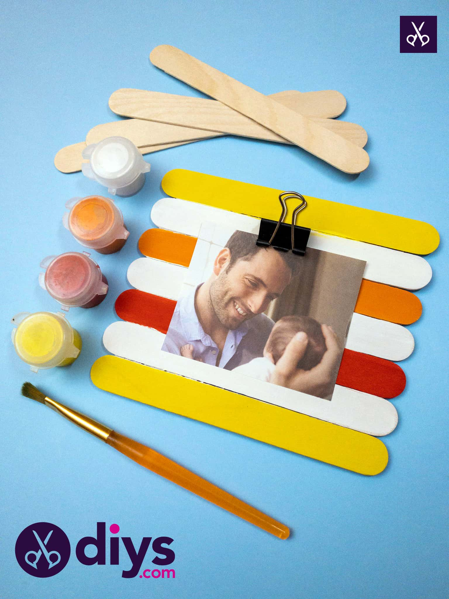 Popsicle stick picture frame top