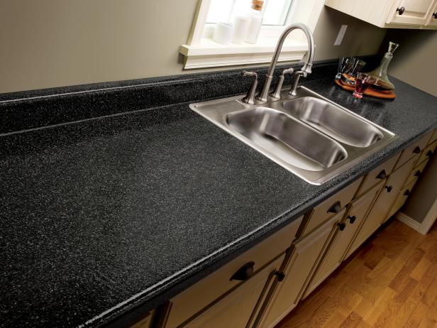Repairing and refinishing laminate countertops