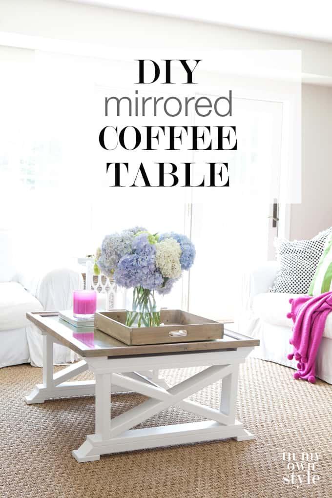 Repurposed mirror coffee table