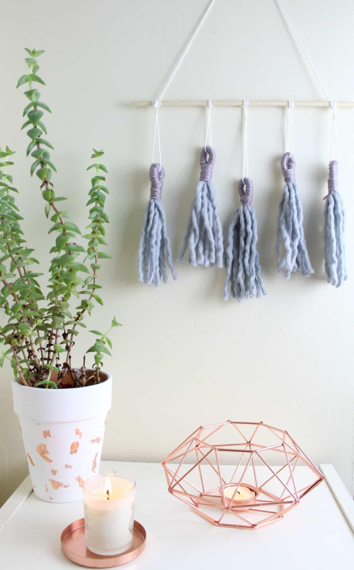 Simpler jumbo tassel wall hanging
