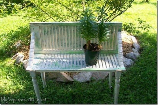 Shutter garden bench