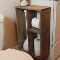 Side cabinet cubby shelf