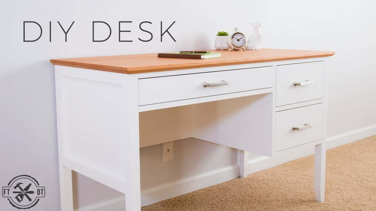 Simple diy desk with drawers