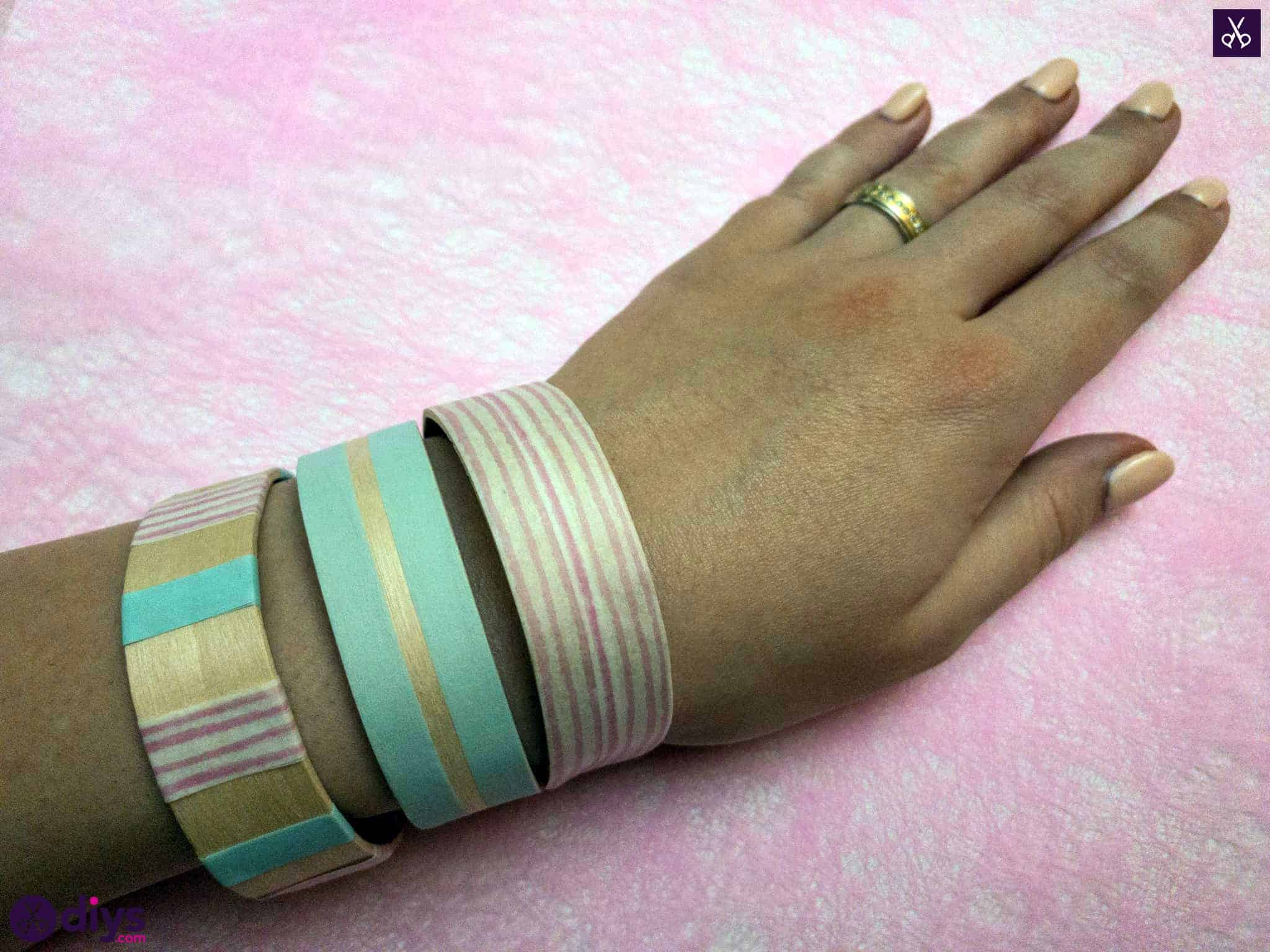 Simple how to make a popsicle stick bracelet