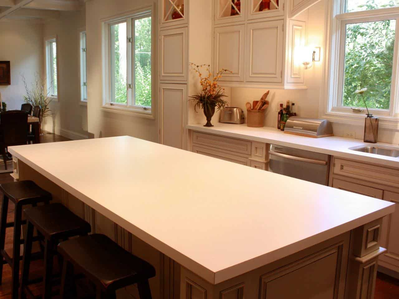 Simple light painted laminate countertops