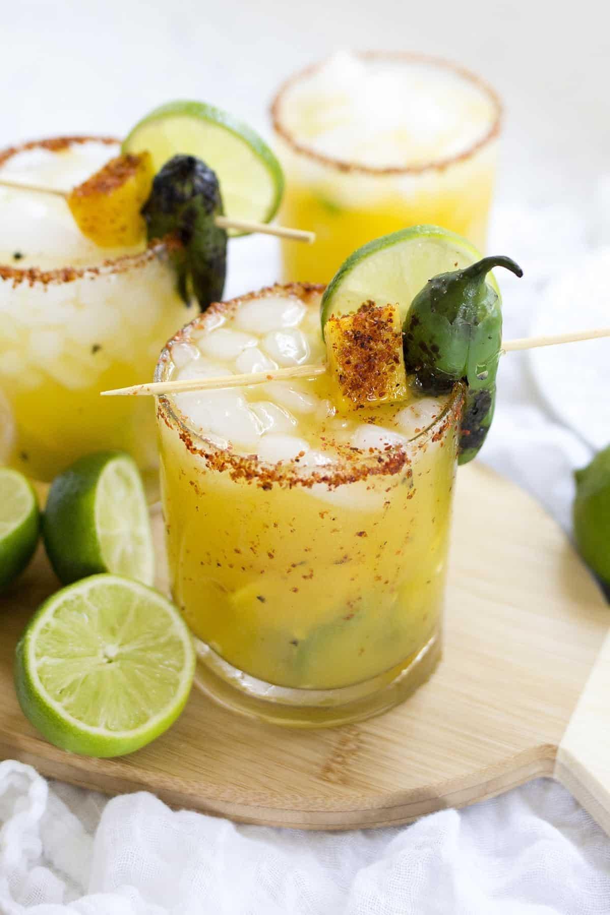 Spicy mango jalepeno margarita
