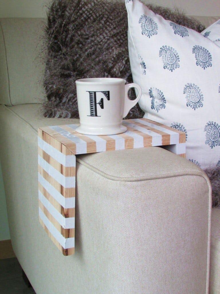 Striped armchair coffee caddy