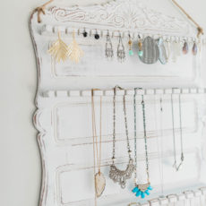 Thrift store spoon rack jewelry organizer