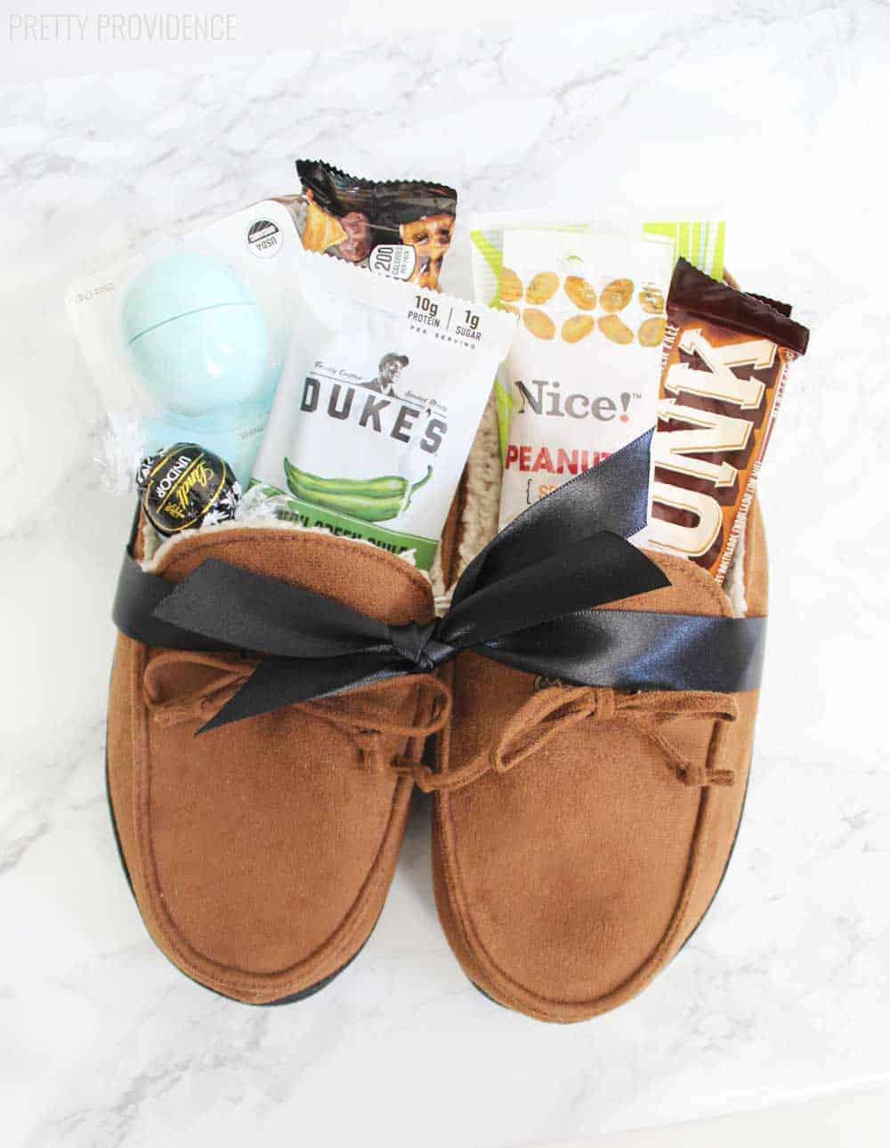 Treat stuffed slippers
