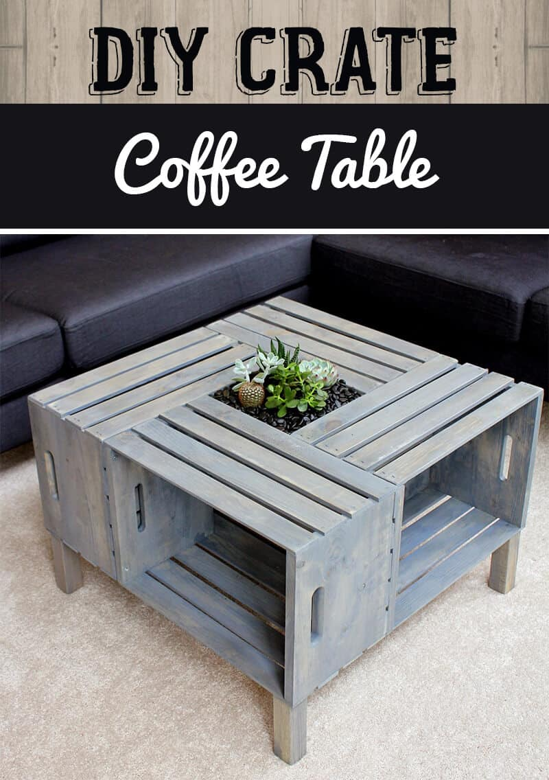 Upcycled crate coffee table