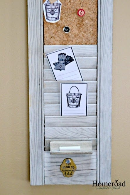 Wall mounted shutter organizer