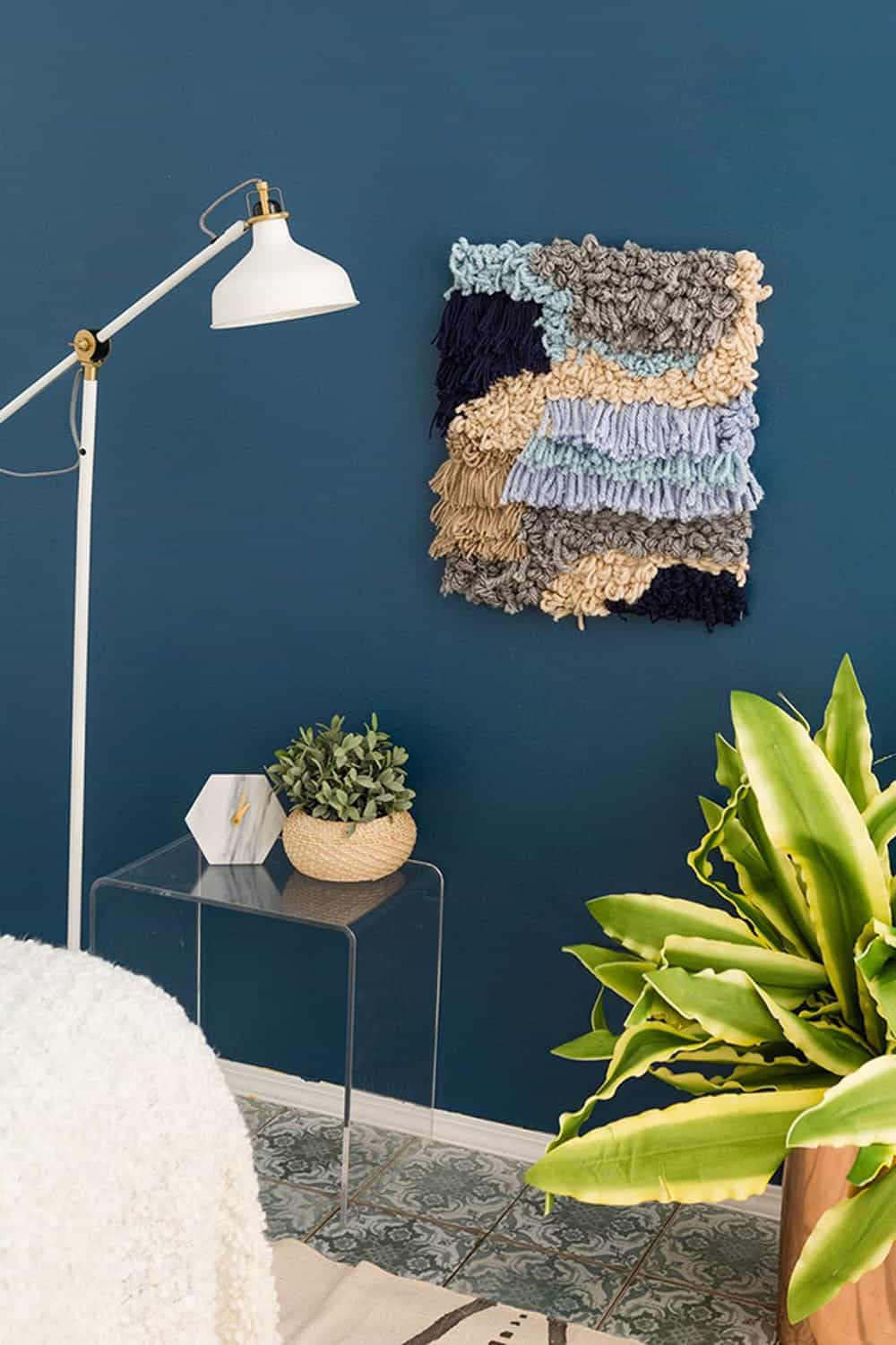 Wall weaving hanger diy