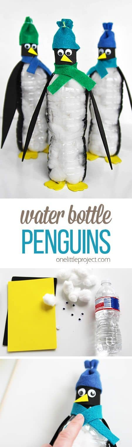 Water bottle penguins