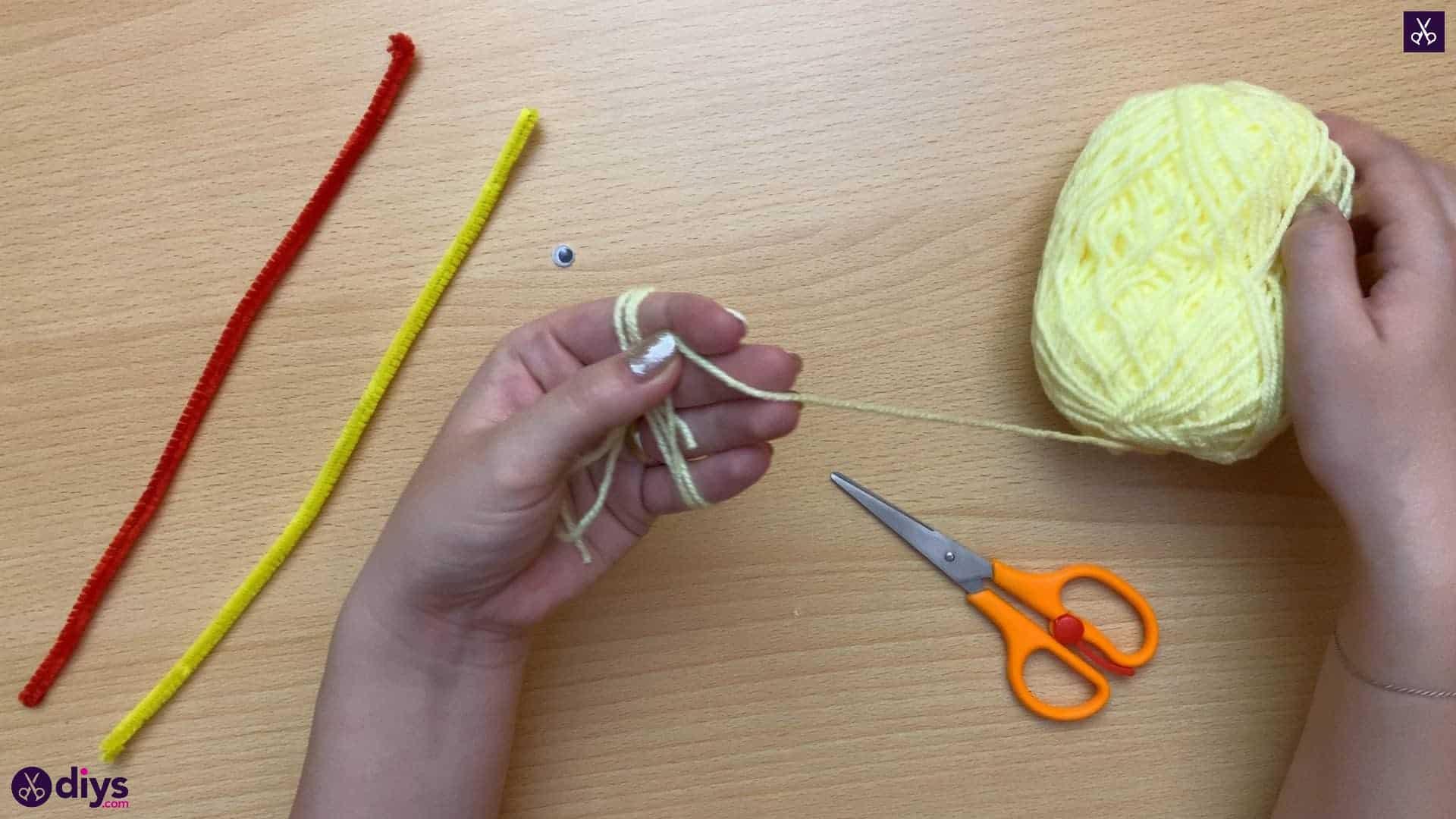Wrap how to make a pom pom chick