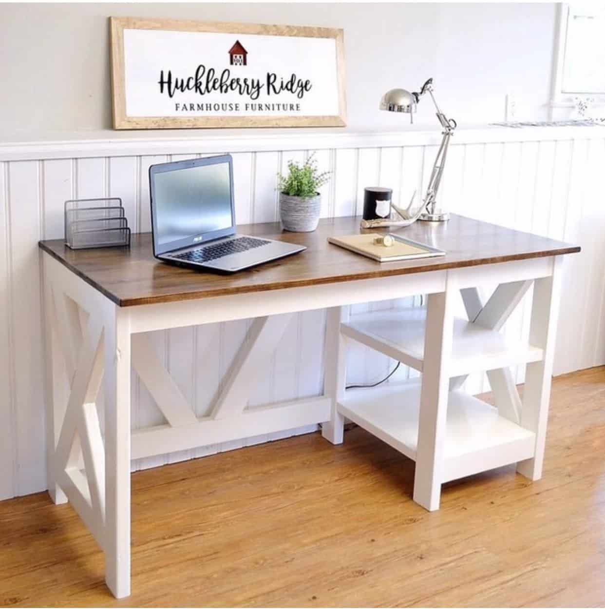 X frame farmhouse office desk