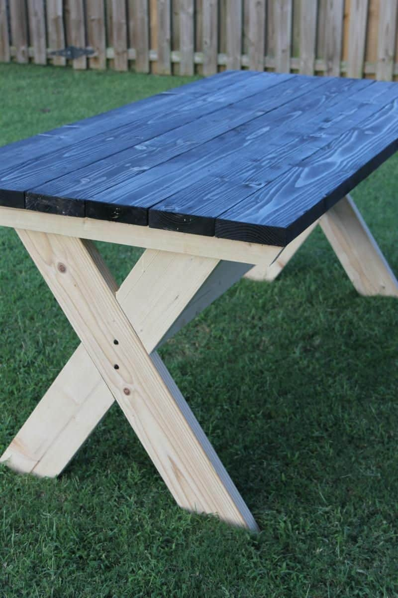 X frame table and bench pinic table