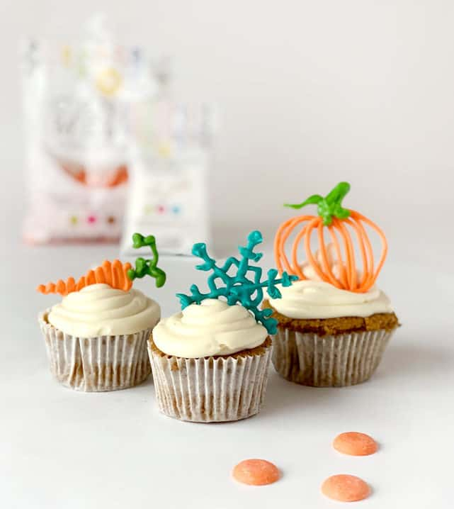 Candy melt cupcake toppers