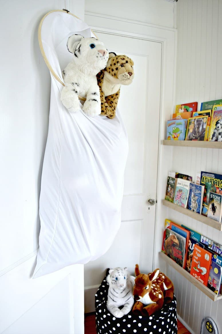 Diy pillowcase animal storage