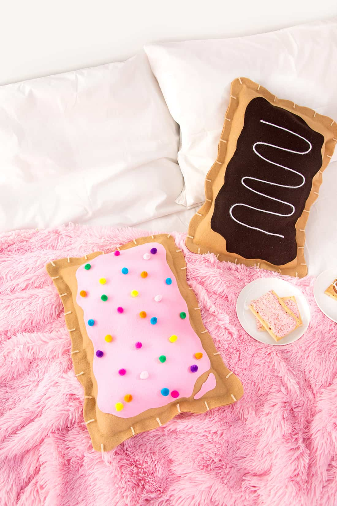 Diy pop tart pillows