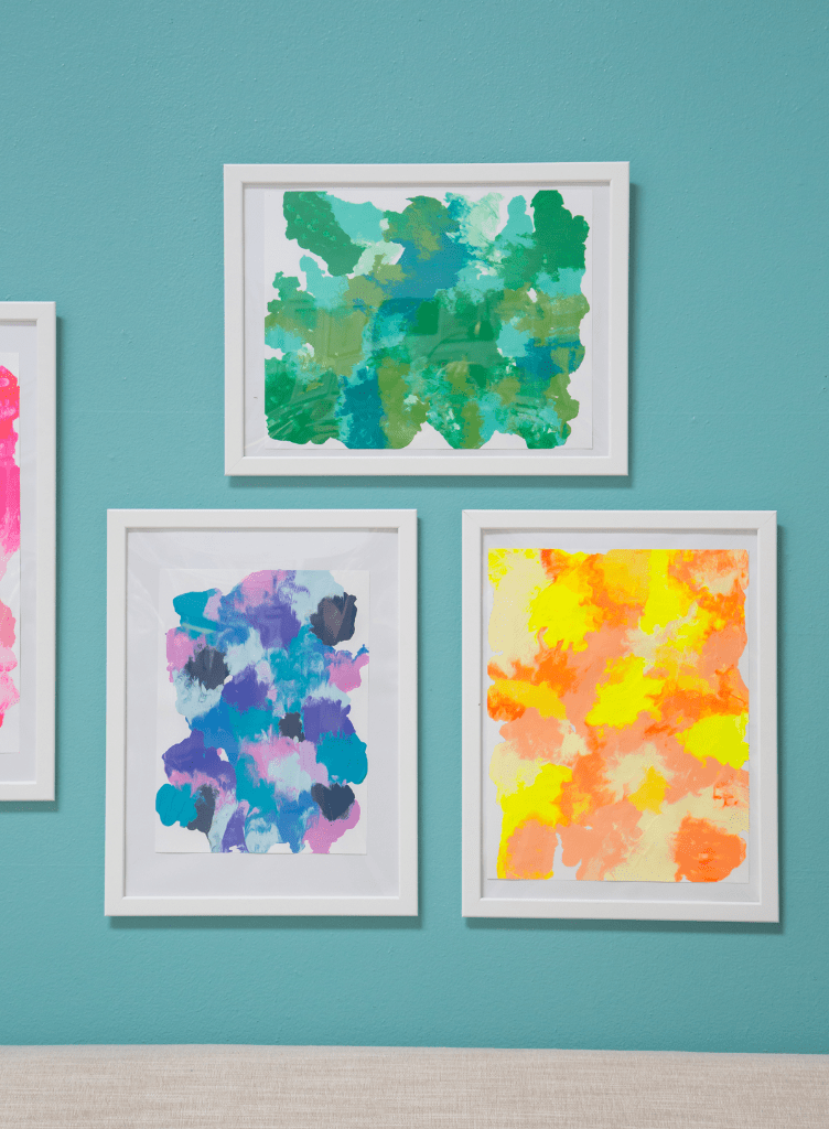 Diy smushed paint art