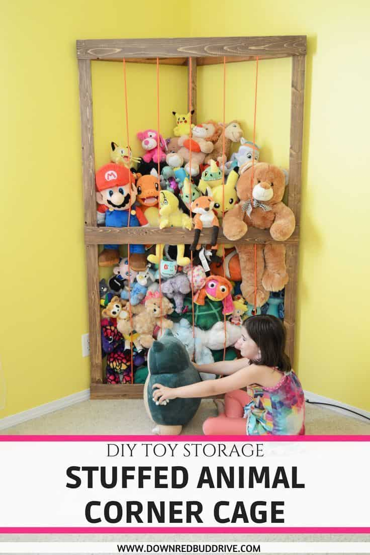 Diy stuffed animal cage