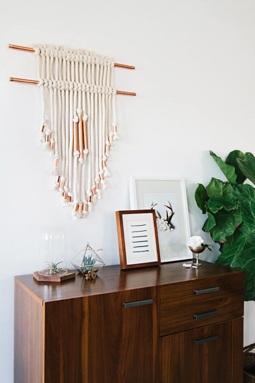 Diy thick and copper wall hanging