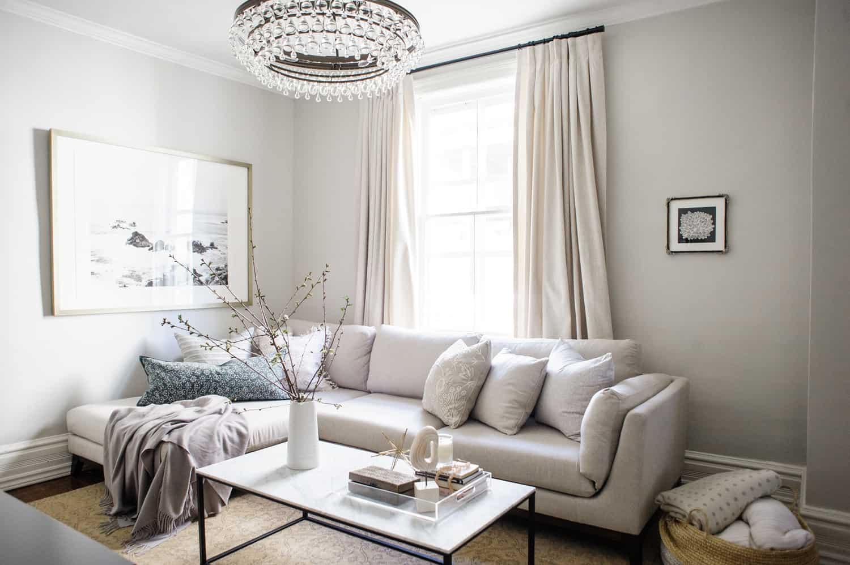 Feng shui serene living room
