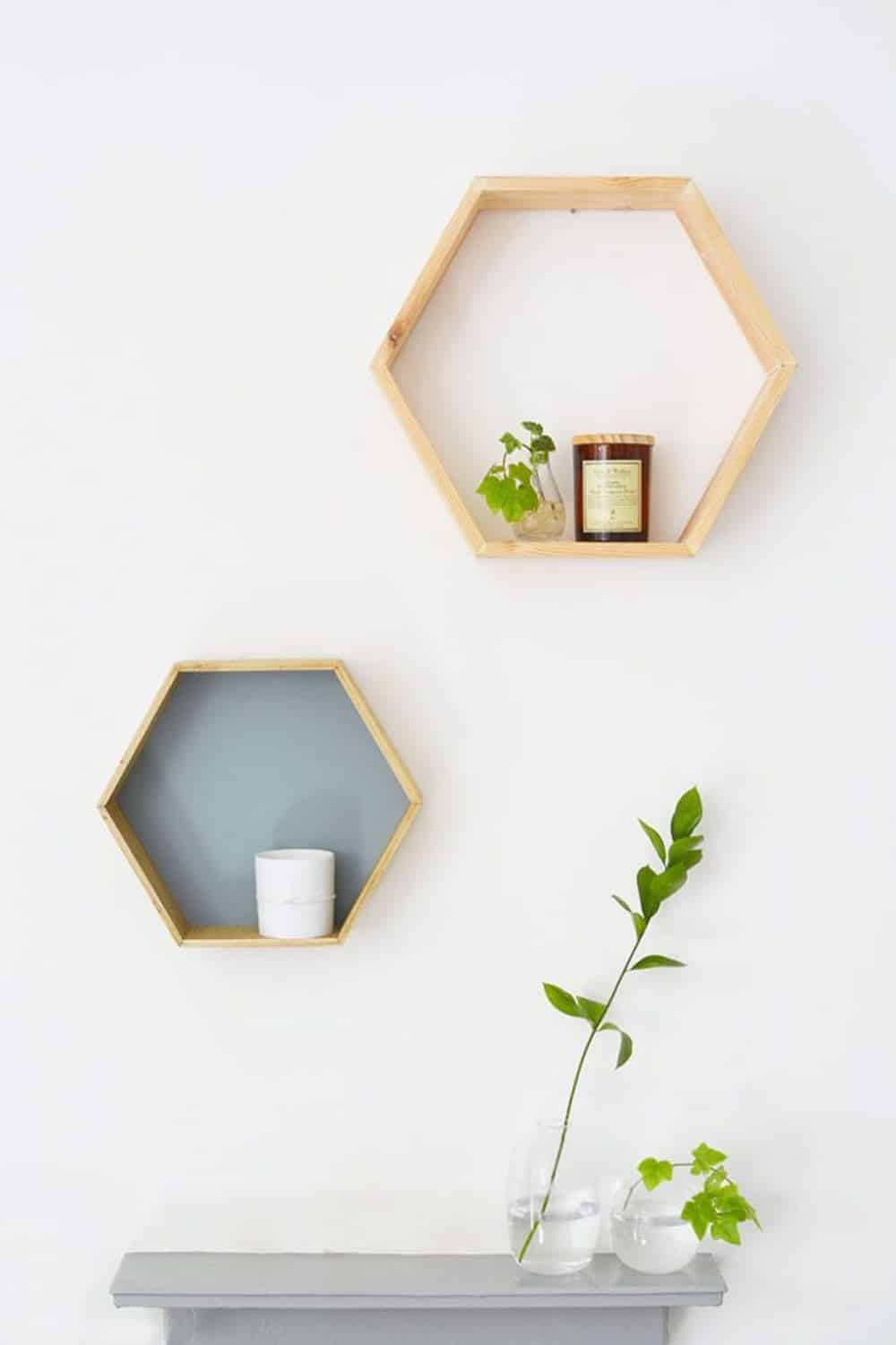 Honeycomb shelves diy